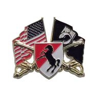 Blackhorse Flag Pin