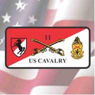11th CAV License Plate