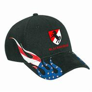 US Flag Flame hat - Black
